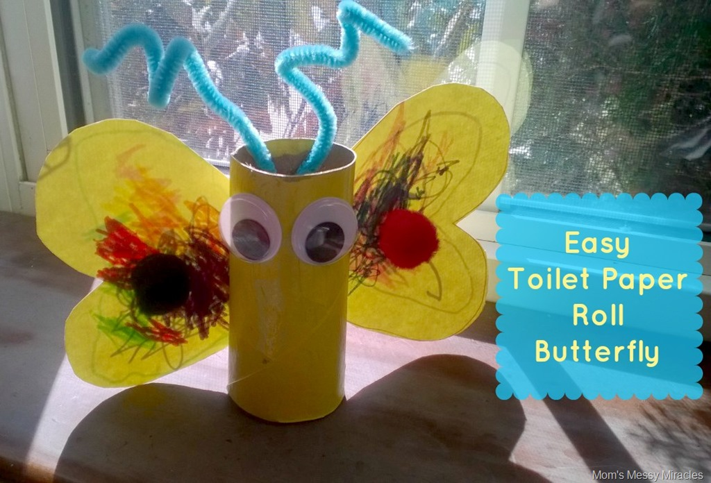 Easy Butterfly Toilet Paper Roll Craft The Shirley Journey