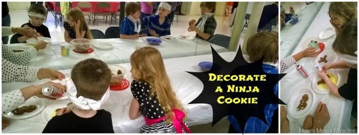 Ninja Party Fun Decorate a Ninja Cookie