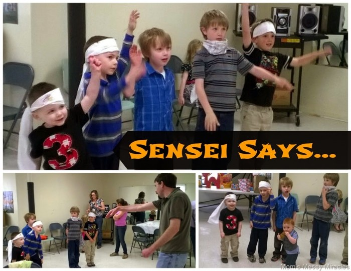 Ninja Party Game Sensei Says
