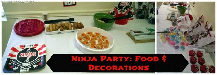 Ninja Party Food & Decorations
