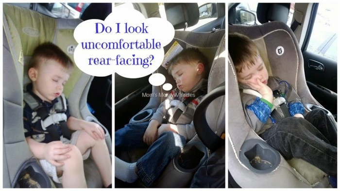 Rear-facing car seats are not uncomfortable