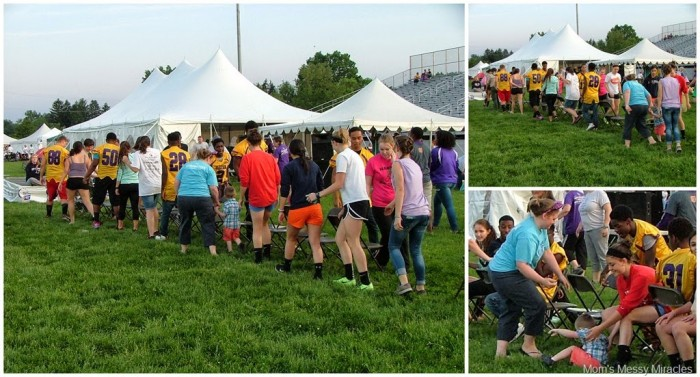 musical chairs at Relay for Life