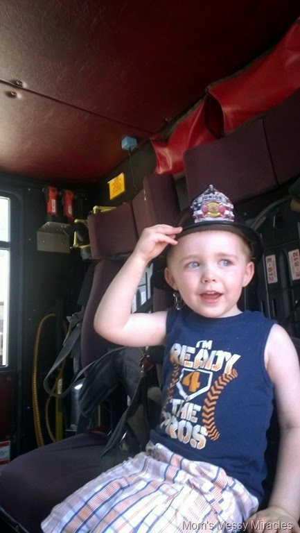 riding in the firetruck