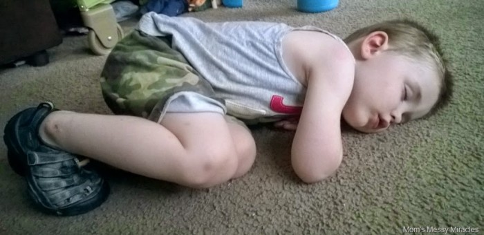 Charlie crashed after family