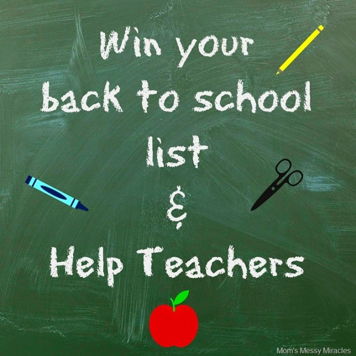 Win your back to school List