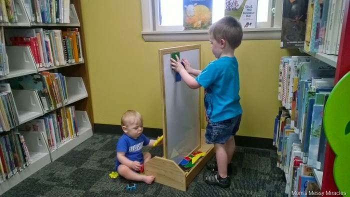 boys at the library