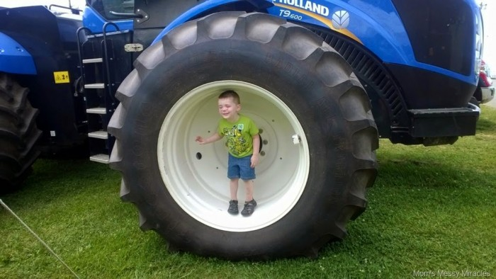 wheel of a BIG tractor