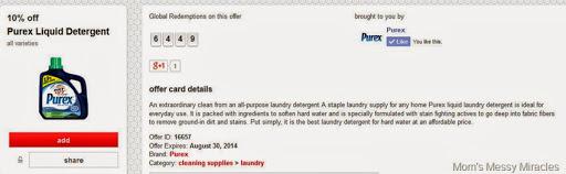 Purex Cartwheel offer