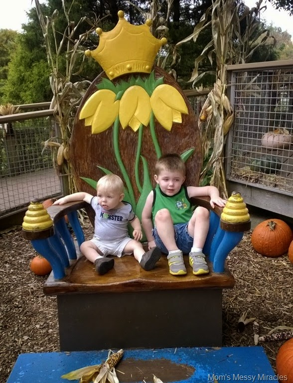 boys at Longwood Gardens