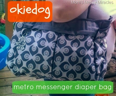 okiedog metro messenger diaper bag