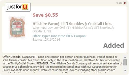 Hillshire Farm coupon Just for u