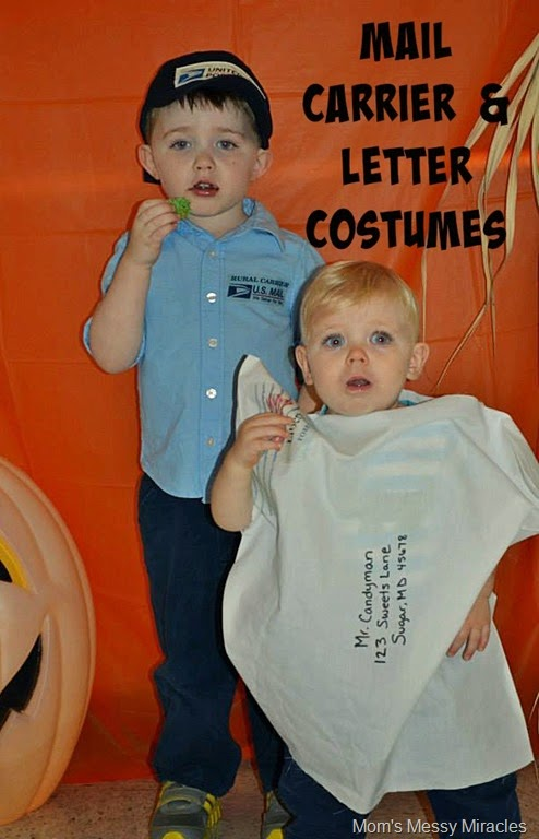 Mail Carrier and letter costumes  sc 1 st  The Shirley Journey & Mail Carrier u0026 Letter Halloween Costumes - The Shirley Journey