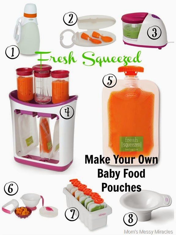 Making Own Baby Food Pouches
