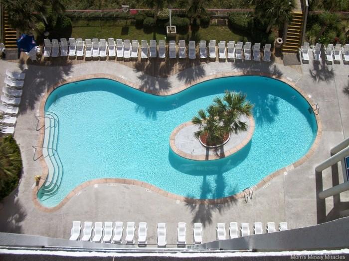 pool below our room at Crown Reef