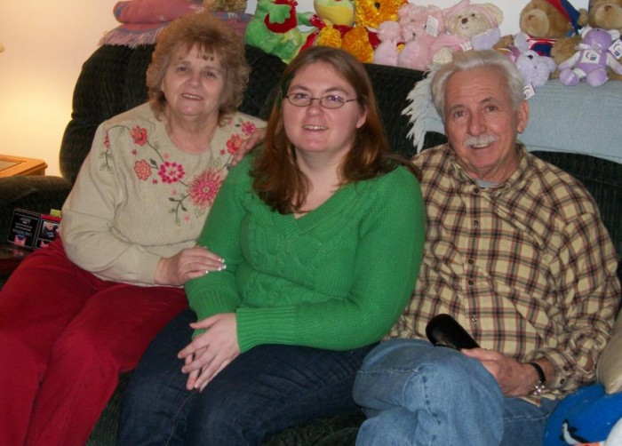 With My Grandparents at Christmas