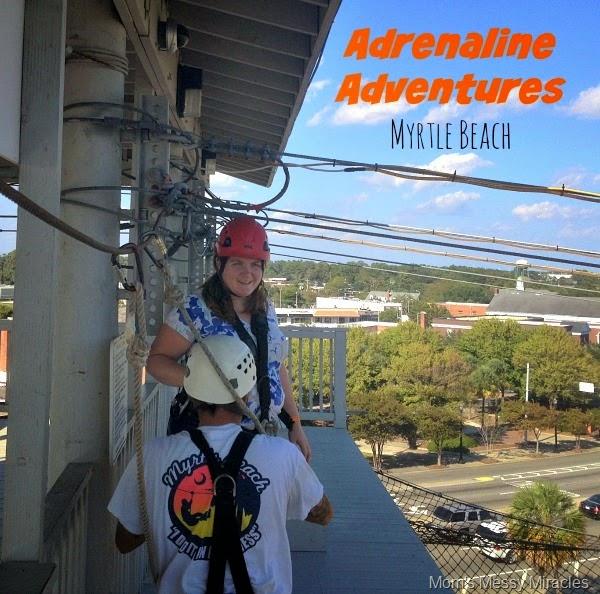 Try ziplining at Myrtle Beach Adrenaline Adventures!