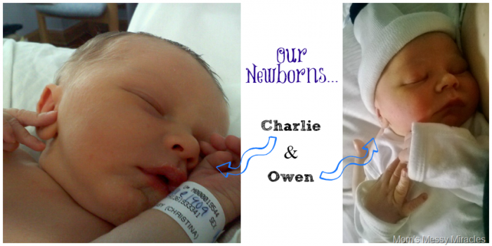 Charlie & Owen as newborns