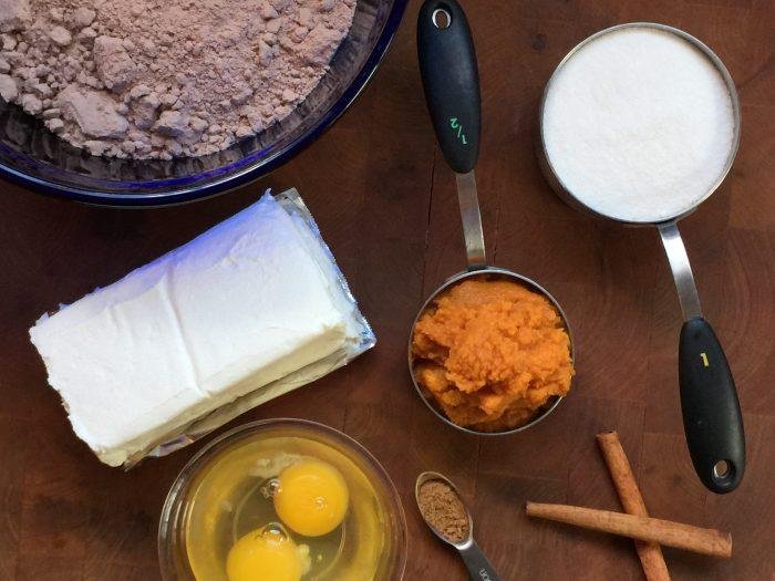Pumpkin Cheesecake Brownies Ingredients