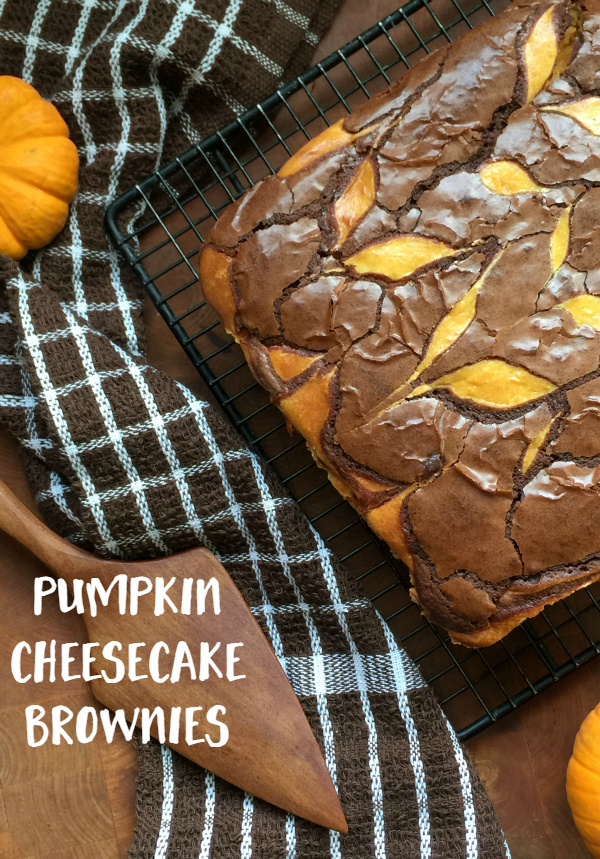 These pumpkin cheesecake brownies are so easy and so yummy, you'll make a pan to share and one to keep for yourself.