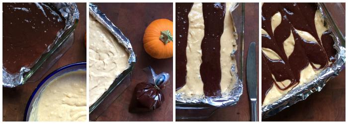 Pumpkin Cheesecake Brownies topping