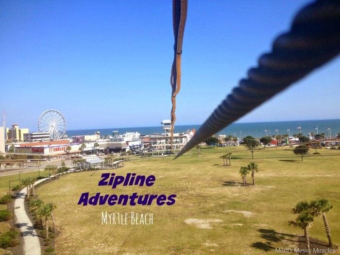 This is what the view looks like when ziplining with Adrenaline Adventures in Myrtle Beach!