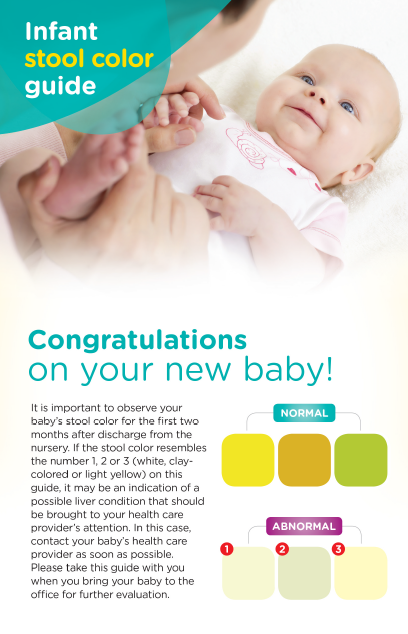pampers stool color chart