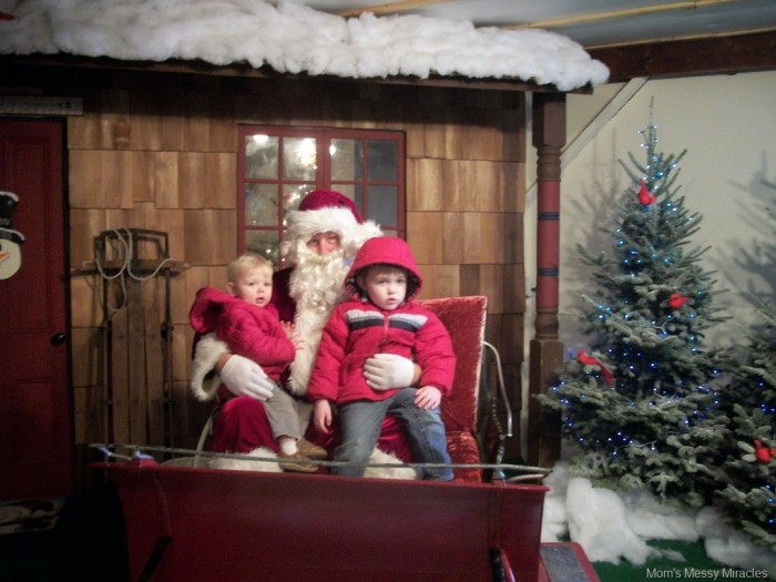 visiting Santa at the tree farm