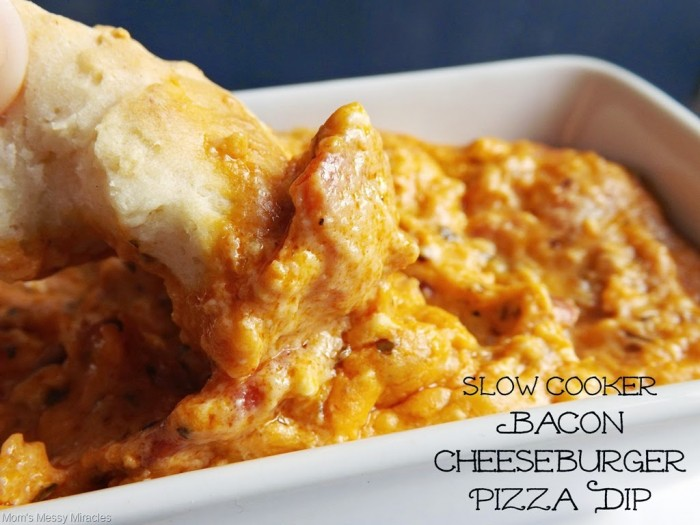 Bacon Cheeseburger Pizza Dip in the Slow Cooker