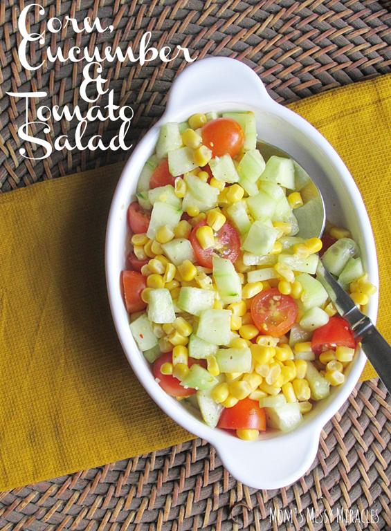 Corn Cucumber Tomato Salad