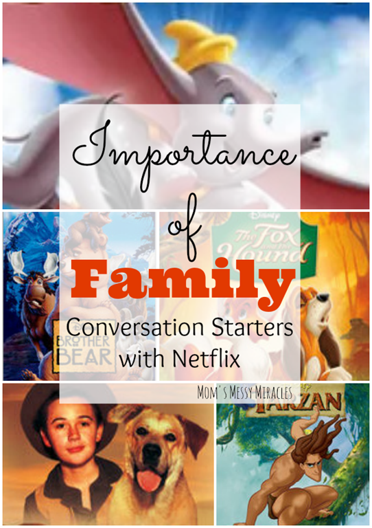Netflix has some great movies that stress the importance of family. Check these out for conversation starters about death and family.