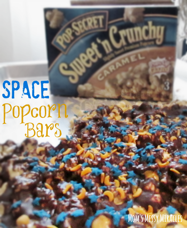 Try this recipe for Pop Secret Space Popcorn Bars! #PopSecretForts #ad