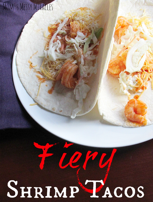 These Fiery Shrimp Tacos are perfect for your #MeatlessMarch meals or any night you want a little spice!