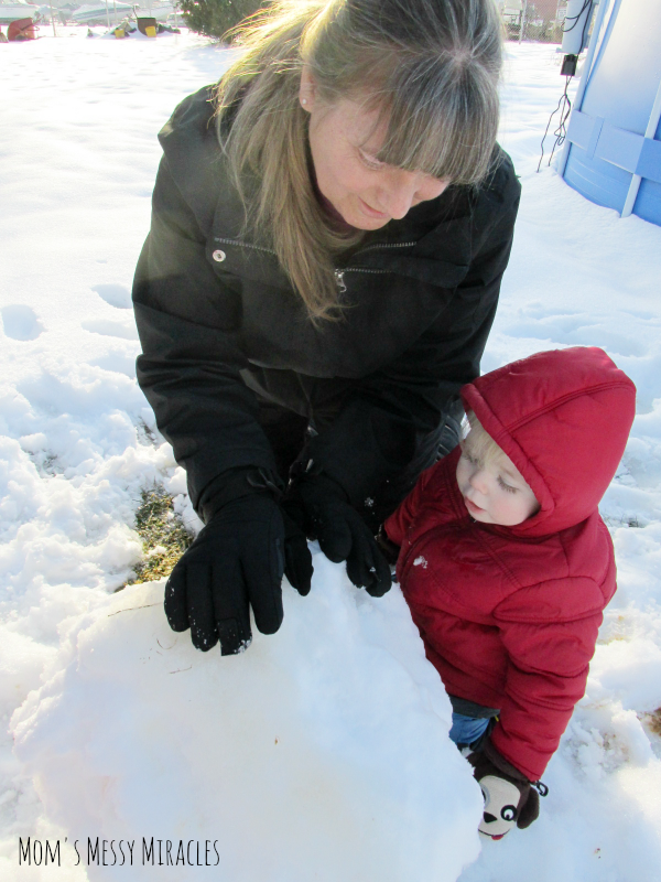 Mommom and Owen in snow