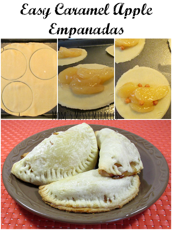 Easy Caramel Apple Empanadas are baked, not fried!