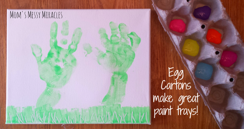 Egg Cartons make a great paint tray!