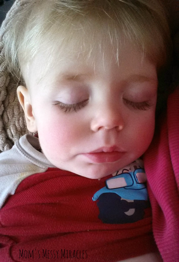 This is from early February. How peaceful does this little boy look? And how about those lashes!?!