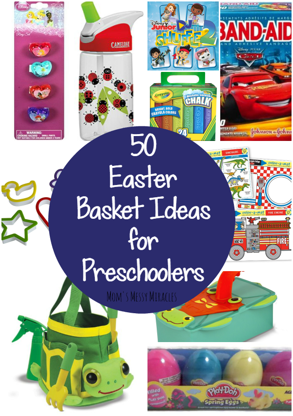 Easter basket ideas for preschoolers the shirley journey easter baskets dont need to be all about the candy here are 50 hopefully youll get a few ideas for your preschooler negle Images