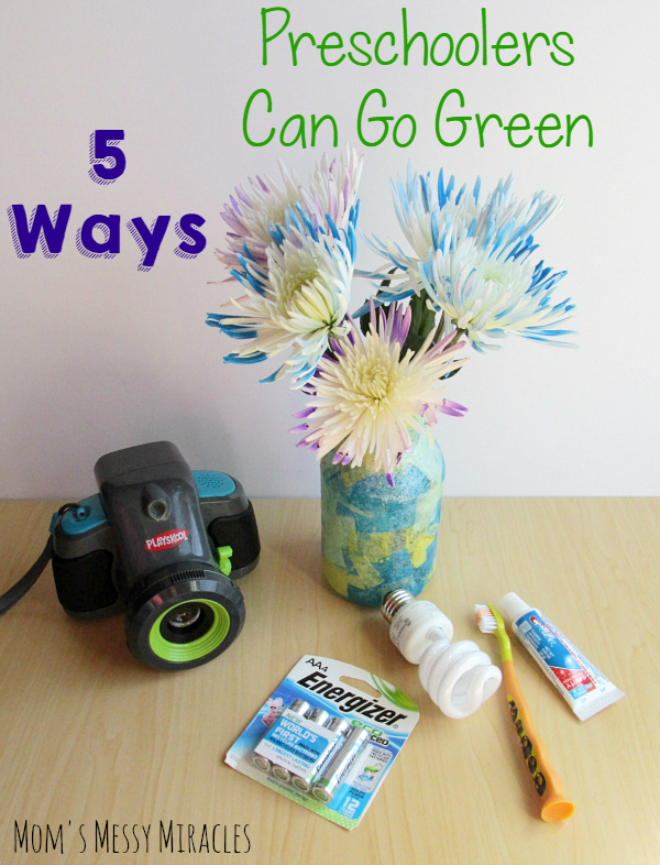 "When we think about ""going green"", most of those tasks are left to adults. We've put together a list of 5 ways that your preschooler can Go Green, too!"