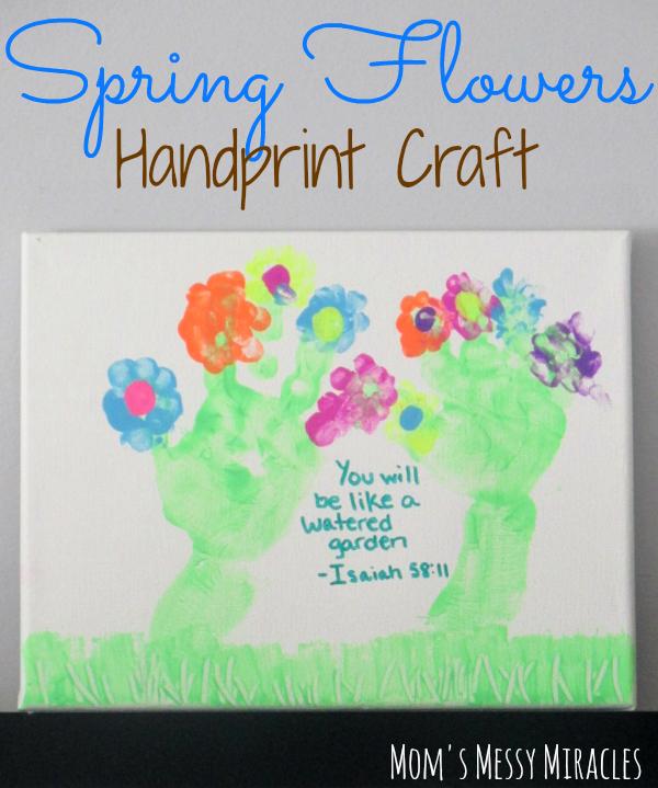 Spring Flowers Handprint Craft