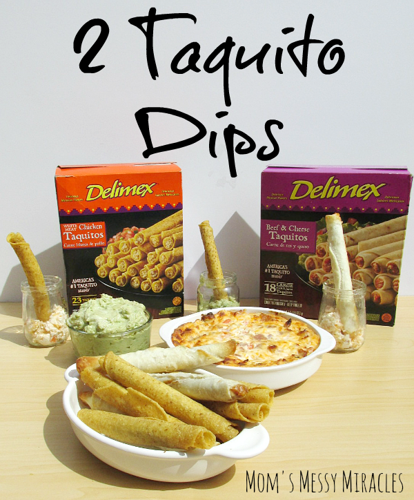 Two easy dips that go great with taquitos!