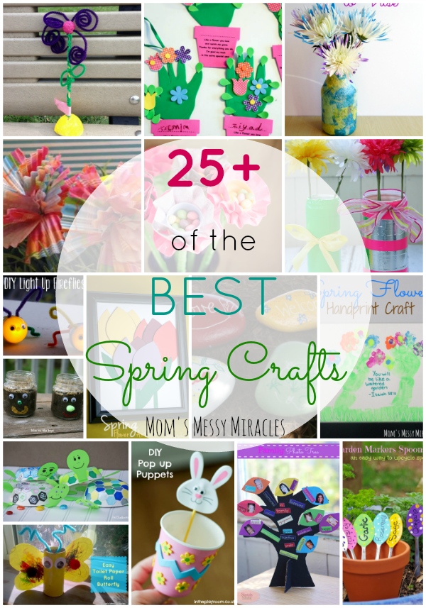 This is the best list of over 25 Spring Crafts! Most for kids, but you'll find something for everyone!