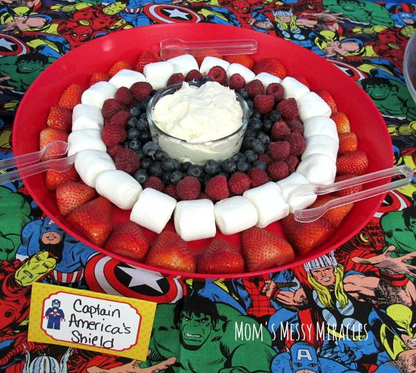 Captain America's Shield Fruit Superhero Lego Party