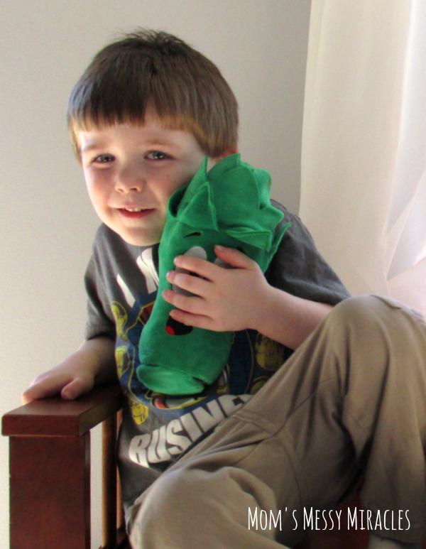 Charlie with Junior VeggieTales