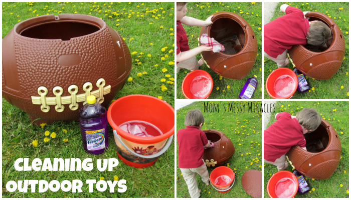 Cleaning Up Outdoor Toys Fabuloso