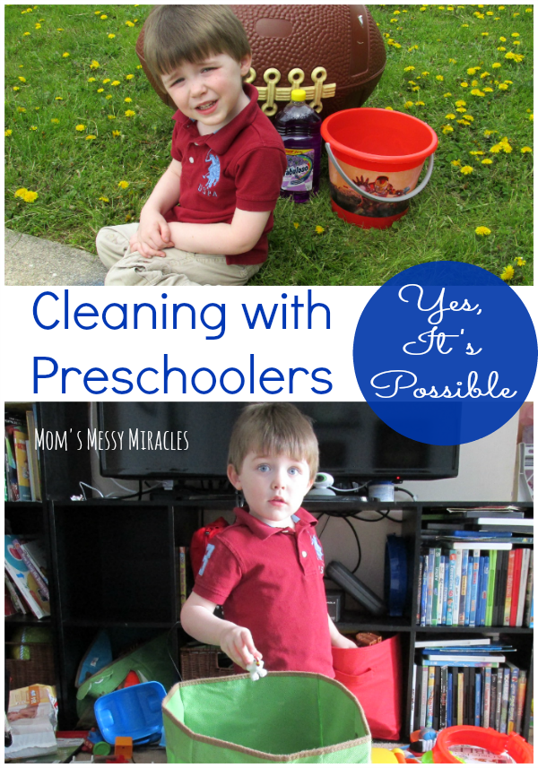Cleaning with Preschoolers is possible! We have some tips to get your house ready for warm weather fun while enlisting the help of your kids!