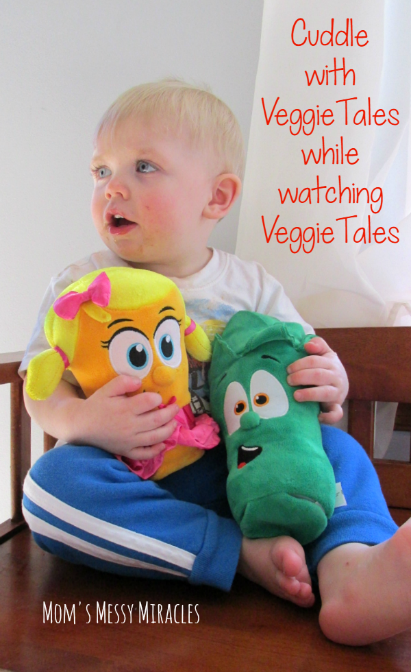 Cuddle With VeggieTales while watching your favorite episodes! Bring your friends to life with the new toys!
