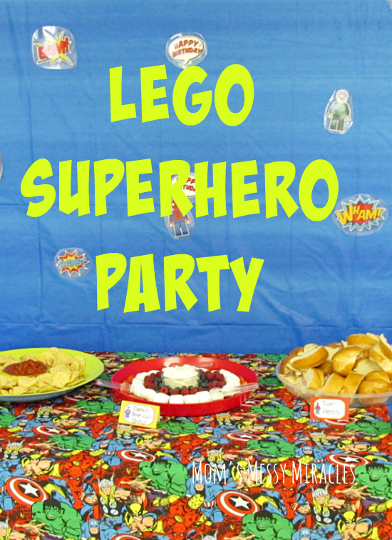 Everything you need for a LEGO Superhero Party: Free printables, food ...