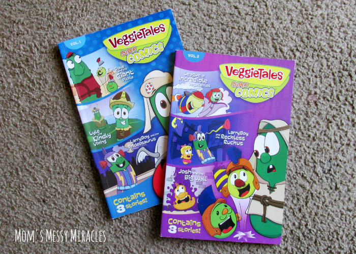 VeggieTales now has comic books! Our favorite Veggie friends are teaching our kids their usual morals and lessons in a new, fun format!