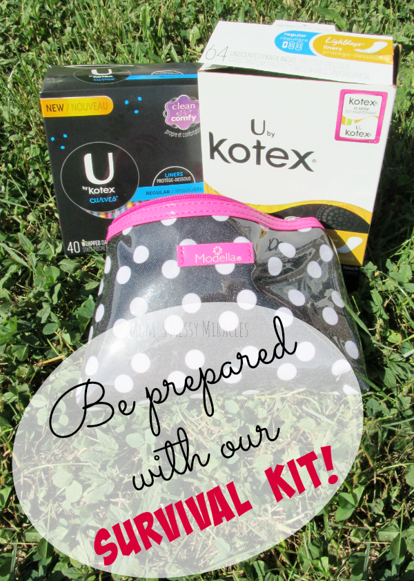 Help survive your cycle with our survival kit! Make sure you're prepared with U by Kotex for whenever your period arrives!