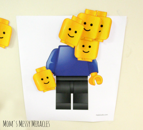 LEGO Pin the Head Game